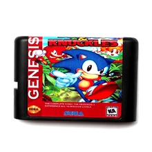 Sonic 3 Knuckles 16 bit MD Memory Card for Sega Mega Drive 2 for SEGA Genesis Megadrive