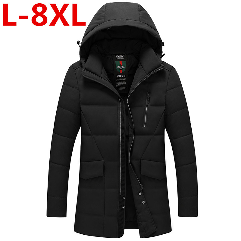 Plus size 8XL 7XL 6XL 2017 New Arrival Men Winter Jacket Fashion Padded Cotton Coat Thick Polyester Jacket Parka Downsulate big free shipping hot 2015 new arrival fashion men winter plaid cotton padded coat jacket winter plus size high quality parka m xxxl