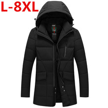 Plus size 8XL 7XL 6XL 2017 New Arrival Men Winter Jacket Fashion Padded Cotton Coat Thick Polyester Jacket Parka Downsulate big