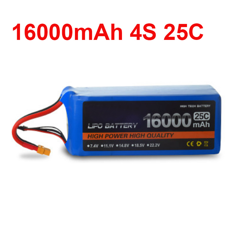 16000 mah drone battery FPV battery 14.8V 4S 25c air plane use power battery high quality lithium battery power air model high rate polymer lithium battery 20mah diy plane model parts