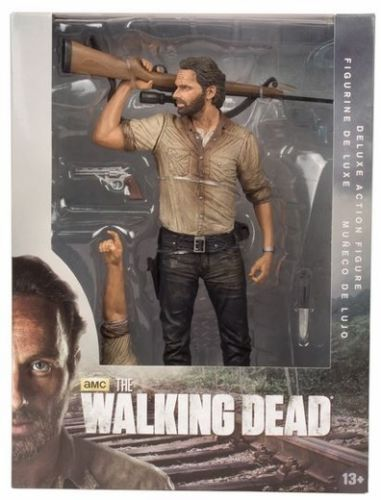25cm AMC Terror <font><b>TV</b></font> <font><b>Series</b></font> <font><b>The</b></font> <font><b>Walking</b></font> <font><b>Dead</b></font> Figure Sheriff Rick Grimes With Rifle <font><b>McFarlane</b></font> Action Figures <font><b>Toys</b></font>