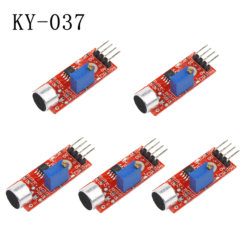 5pcs High Sensitivity Microphone Sensor KY-037 Detection Board For AVR PIC For DIY Board