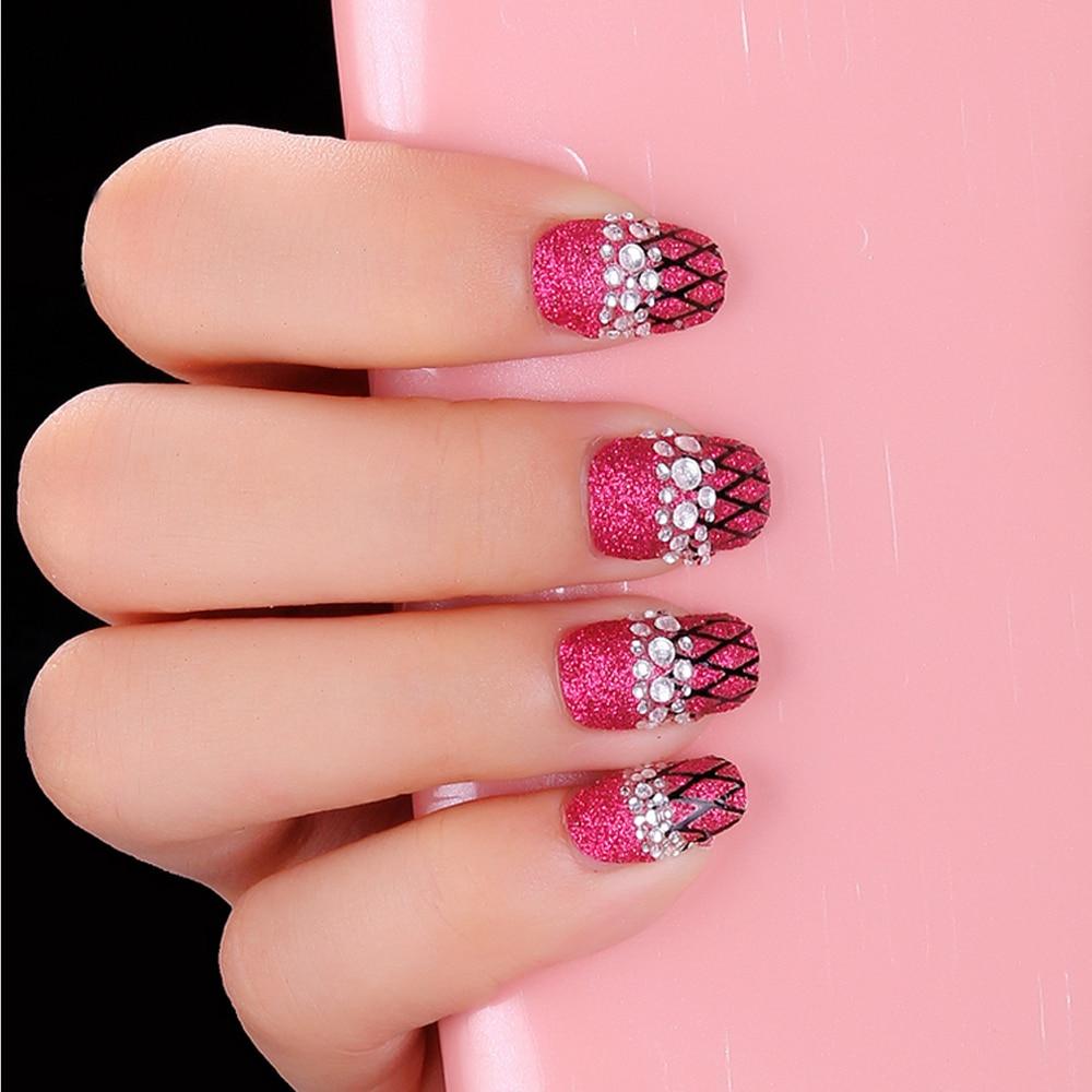 Yaoshun 900pcs mix shape color 3D nail art diamante nail tools ...