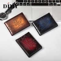 Newest popular brand business card holder Driving License Wallet Trendy Men's Leather id holders male wallet carteras patina