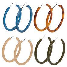 Bohemian Color Caramel Leopard Print C Earring Earring. Turtle Shell Geometry Acrylic Earrings