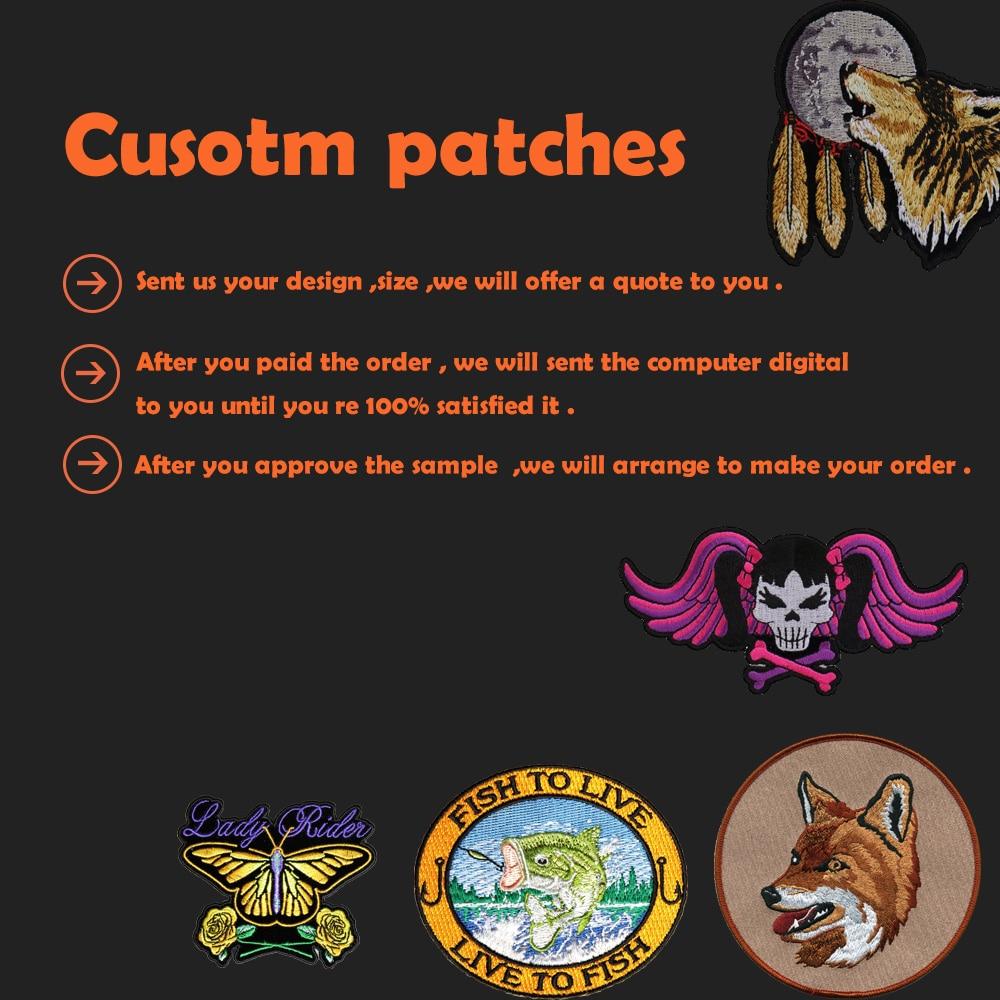 Personalizado bordado patches ferro-on gancho de apoio com o seu próprio logotipo design personalizado logotipo da equipe do clube escola