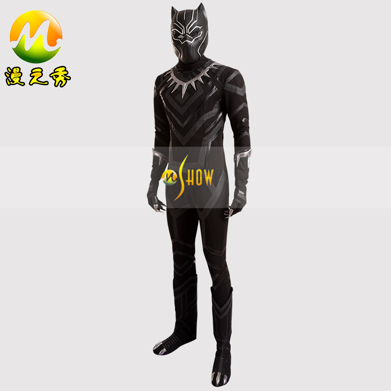 Captain America 3 Civil War Black Panthers Cosplay Costume For Men Adult Black Panther Costume Cosplay Carnival Halloween Party