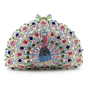 Lady crystal diamond Clutch Bag Peacock shape Evening Party Wedding Purse Chain Shoulder Handbag crystal diamond evening bag feast party purse wedding bridesmaid clutch bag with chain bling handbag