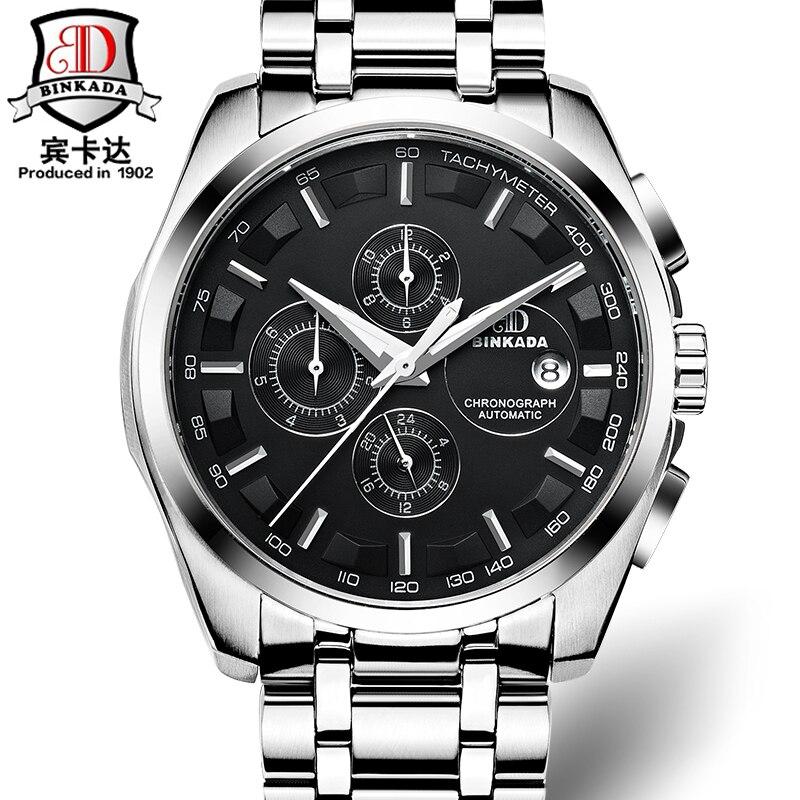 Автоматические часы мужские механические Роскошные брендовые binkada orologi Tourbillon часы мужские спортивные часы Swiss Military automatik часы