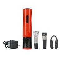 Nowy ArrivalAutomatic Akumulator Elektryczny Zasilany Otwieracz Do Wina + Próżniowe Korek Butelki + Wine tubus + Folia frez FG