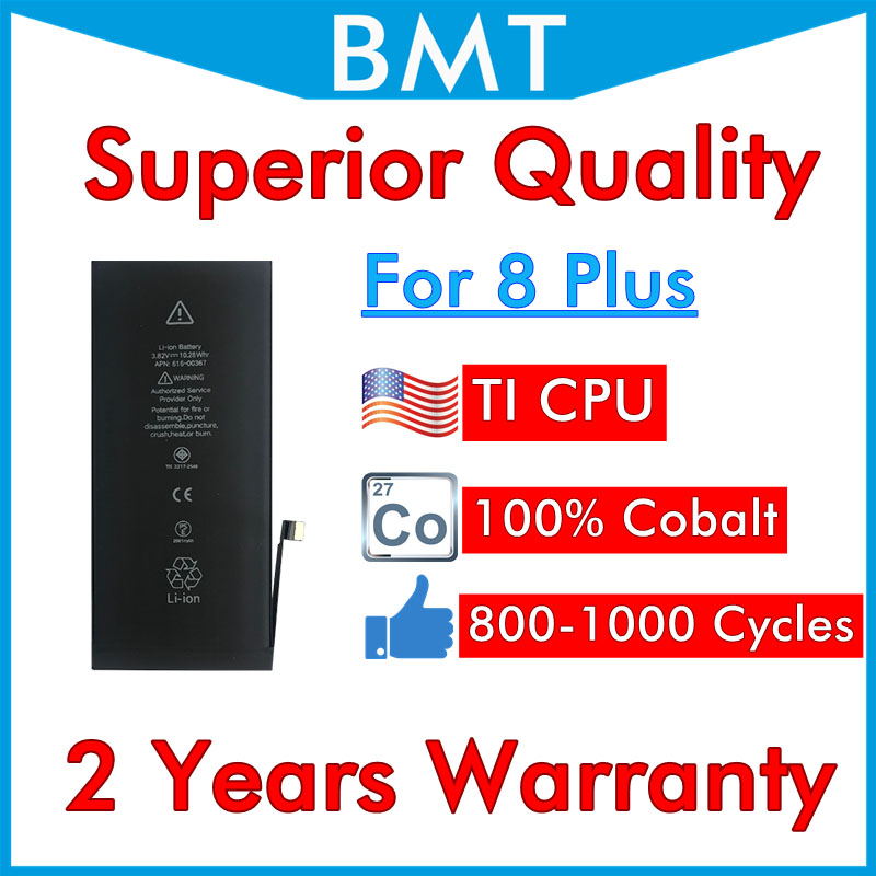 BMT 5pcs Superior Quality Battery for iPhone 8 Plus 8P 8 repair replaced iOS 13 100