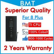 BMT 5 pièces batterie de qualité supérieure pour iPhone 8 Plus 8 P 8 + réparation remplacée iOS 13 100% Cobalt + technologie ILC 2019 2691mAh