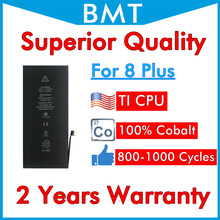 BMT 5pcs Superior Quality Battery for iPhone 8 Plus 8P 8+ repair replaced iOS 13 100% Cobalt + ILC Technology 2019 2691mAh