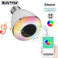 Mini 9W E27 LED Lamp bluetooth speaker bulb APP Control led light lamp White + RGB LED Music Bulb Timing Alarm LED Smart Bulb