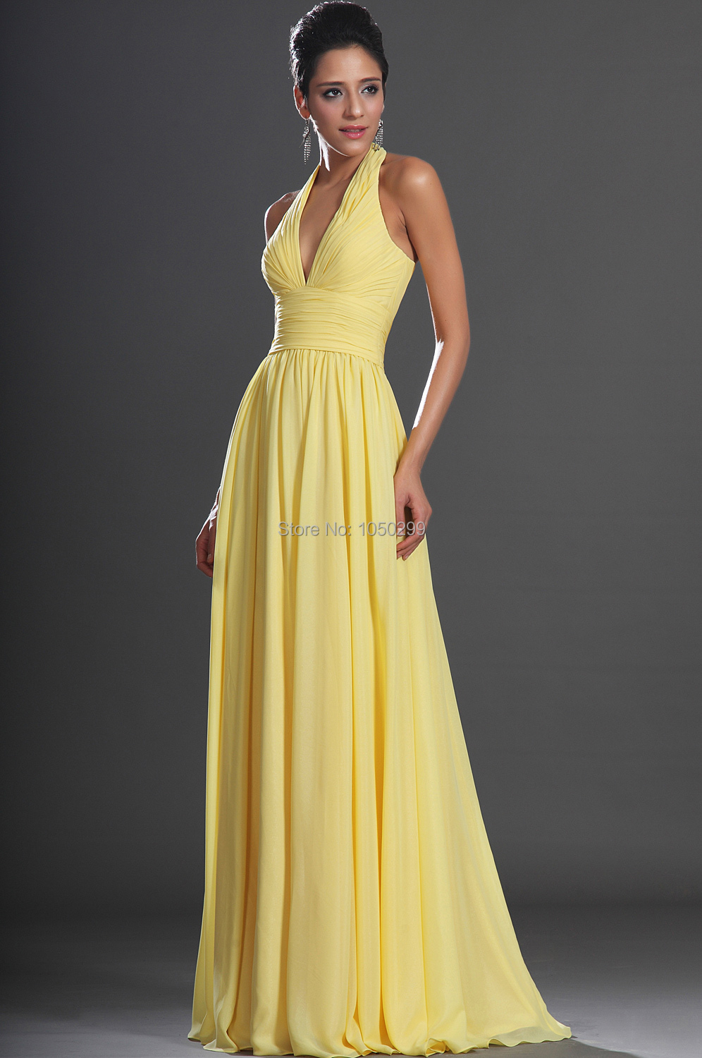 Dress for prom long yellow gown chiffon halter vestido longo amarelo dress for prom long yellow gown chiffon halter vestido longo amarelo 2015 prom gowns vestidos longos formatura in prom dresses from weddings events on thecheapjerseys Choice Image