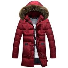 Men's Jackets Winter Men Padded Cotton Jacket Long Coat Winter Jacket Overcoat Autumn Parka Coats Outwear