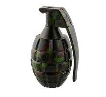 3parts Herb Grinder Weed Metal Grenade Modeling 45mm Diameter 85mm Height Zinc Alloy Material for Hookah Water Pipe Bong Glass