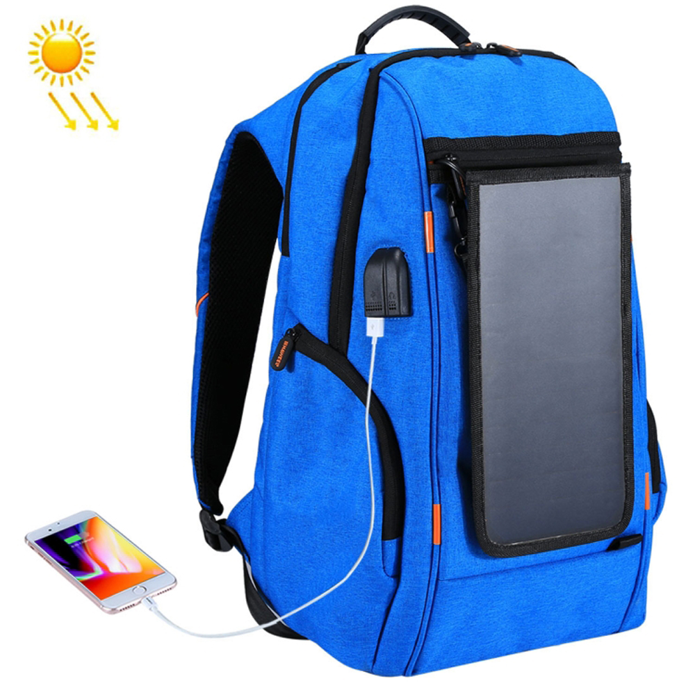 New 2018 Solar Panel Outdoor Charging Backpack With Usb Port Waterproof Breathable Travel Bag Wear-resisting Anti-theft Backpack To Rank First Among Similar Products