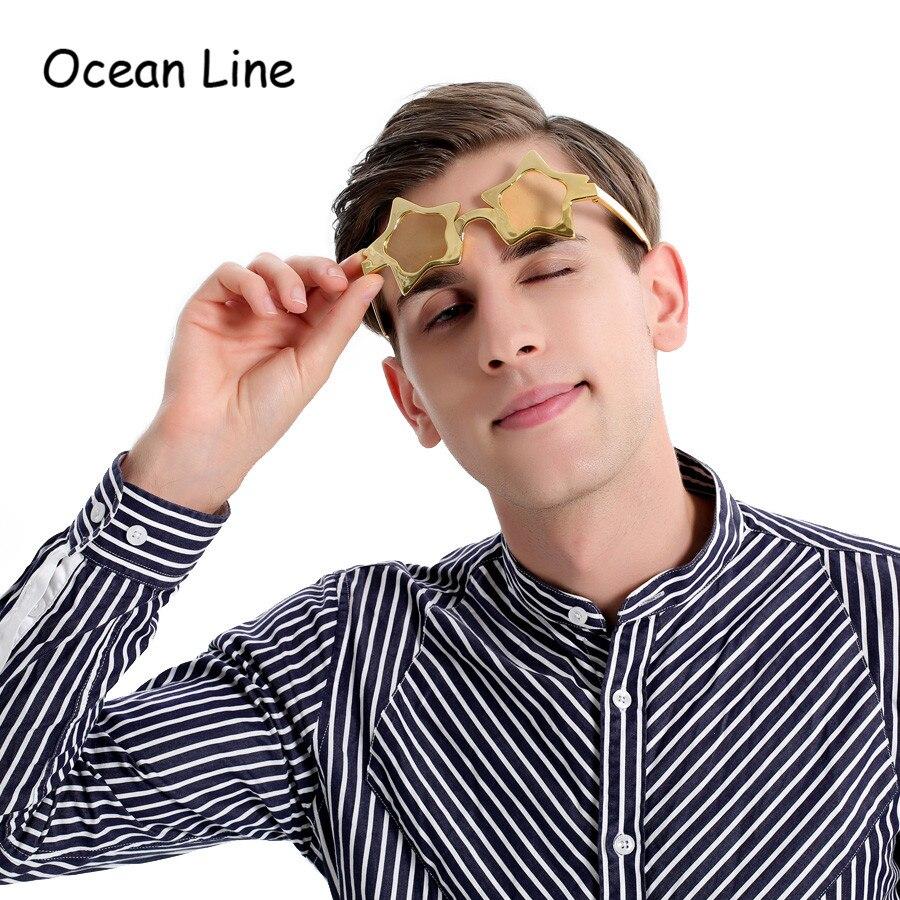 Engraçado Brilhante Metálico Estrela Óculos Decorados Photo Booth - Para feriados e festas