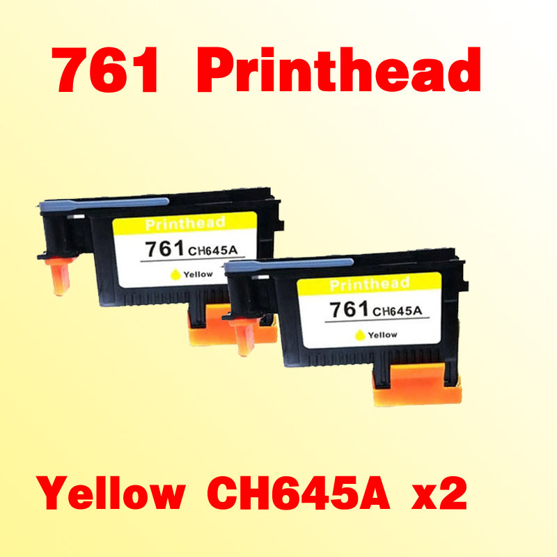 2x printhead compatible for hp761 compatible for hp 761 CH645A T7100 T7200 Yellow print head for hp761 magenta cyan prinhead for hp 761 t7100 t7200 ch646a