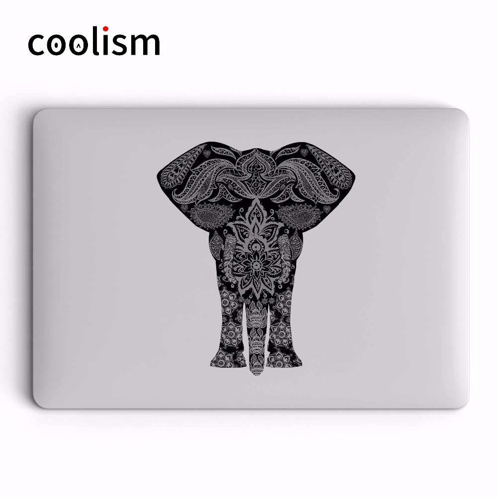 Buy Mandala Elephant Colorful Laptop Sticker for Apple Macbook Pro Air Retina 11 12 13 15 inch HP Mi Mac Surface Book Skin Decal for only 9.9 USD