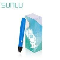 SUNLU 3D Druck Stift Für Kinder DIY Handwerk Und Erkunden Kreative Werkzeuge Blau Farbe 3D Stifte Box Set Sicher Zu anfänger Betrieb-in 3D Stifte aus Computer und Büro bei