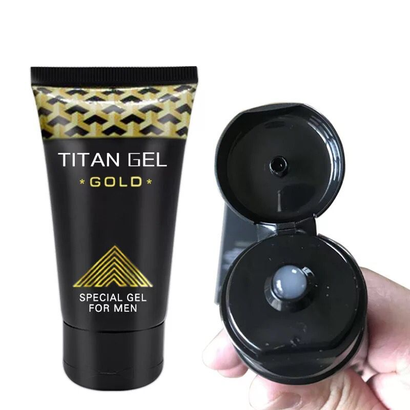 Original Titan Gel Gold Russia Penis Enlargement Cream Retarder Intim Gel Help Male Potency Penis Growth Delay Cream  Lube