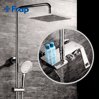 Frap new bathtub faucet wall mounted bathroom shower faucet set Bath Shower tap waterfall stainless shower head shower Y24009