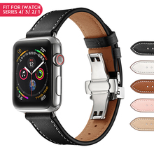 Laforuta Silicone Band for Apple Watch 40mm 44mm iwatch Leather Strap Loop Series 4 3 2 1 Wrist Belt Watchband Smart Accessories