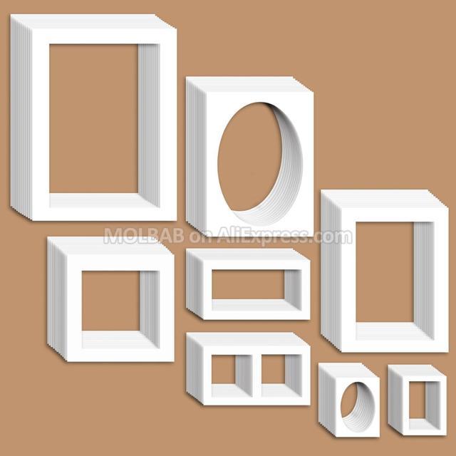 Photo Frame Mat White/Black Paper Passe Partouts 7/12/16/20 inch ...