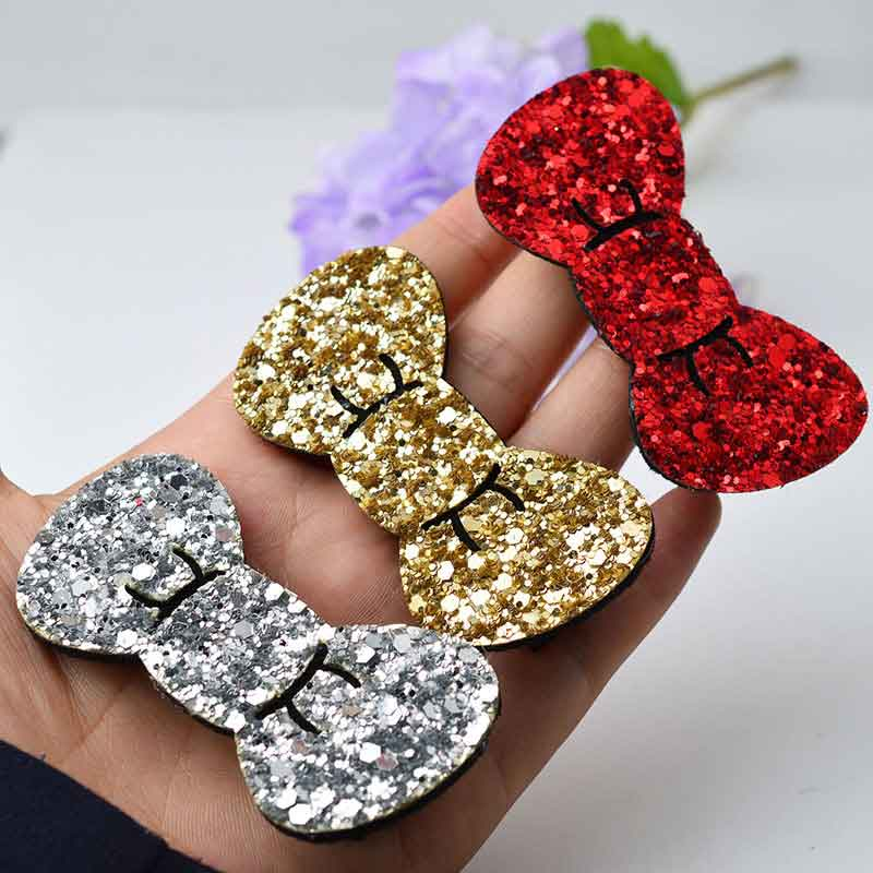 Cute Baby Glitter Bow Hair Clips for Girls Hair Accessories Snap Clip Hairpins Children Hairgrips Hair Barrettes for Kids in Hair Accessories from Mother Kids