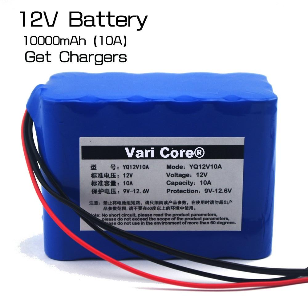 Varicore 100% новый защита большой емкости 12 В 10ah 18650 литиевая Перезаряжаемые аккумулятор 12.6 В 10000 мАч Емкость