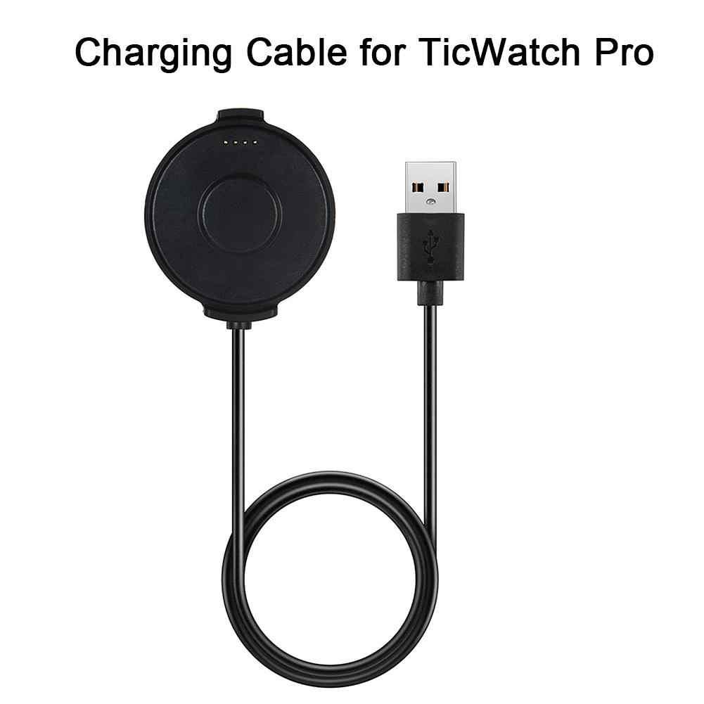 Dane usb i kabel ładujący stacja dokująca do ładowarki ticwatch pro smartwatch bluetooth z kablem 1m konstrukcja magnetyczna silne ssanie