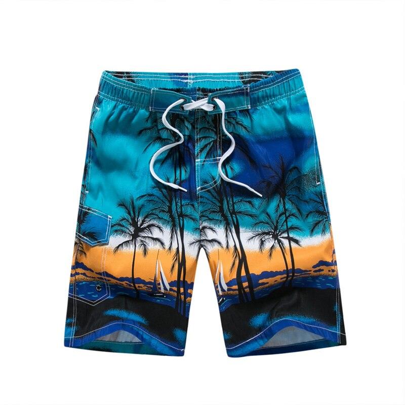 Hawaiian Men Board Shorts Swimwear Printed  Swimsuits Men's Trunks Beach Shorts Brand Polyester Quick Dry Male Boardshorts