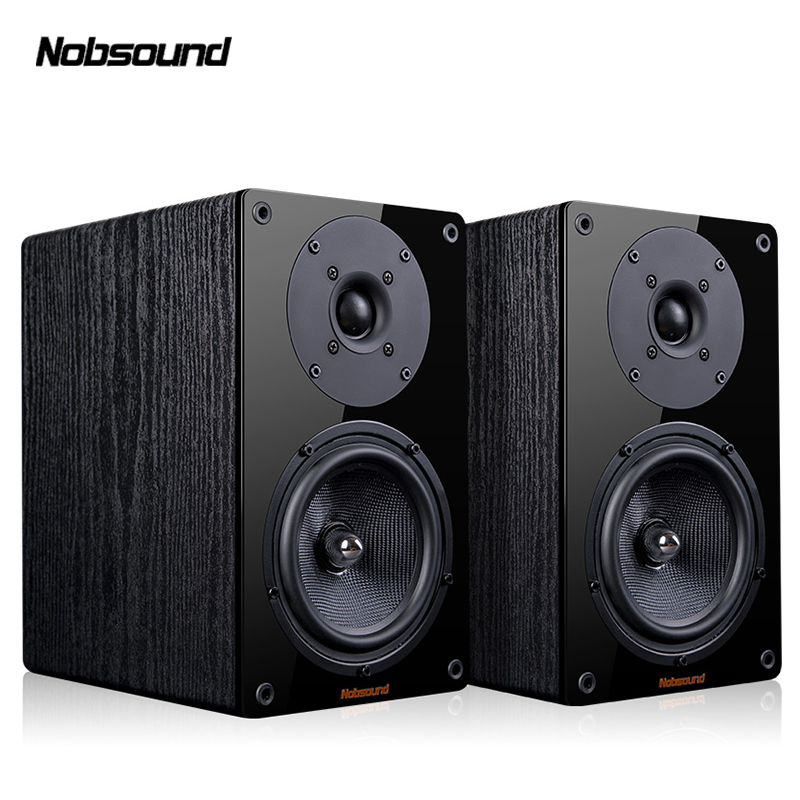 Nobsound NS-1900 Wood 100W 1 Pair 5.5 inches Bookshelf Speakers 2.0 HiFi Column Sound Home Professional speaker