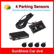 Colorful LCD Screen Car Parking Assistance Sensor With 4 Sensors Reverse Backup Radar System Kit 12V Voice Alarm Auto Radar