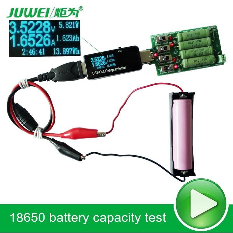 Probador de batería / USB Voltímetro de CC amperímetro 18650 - Instrumentos de medición - foto 4