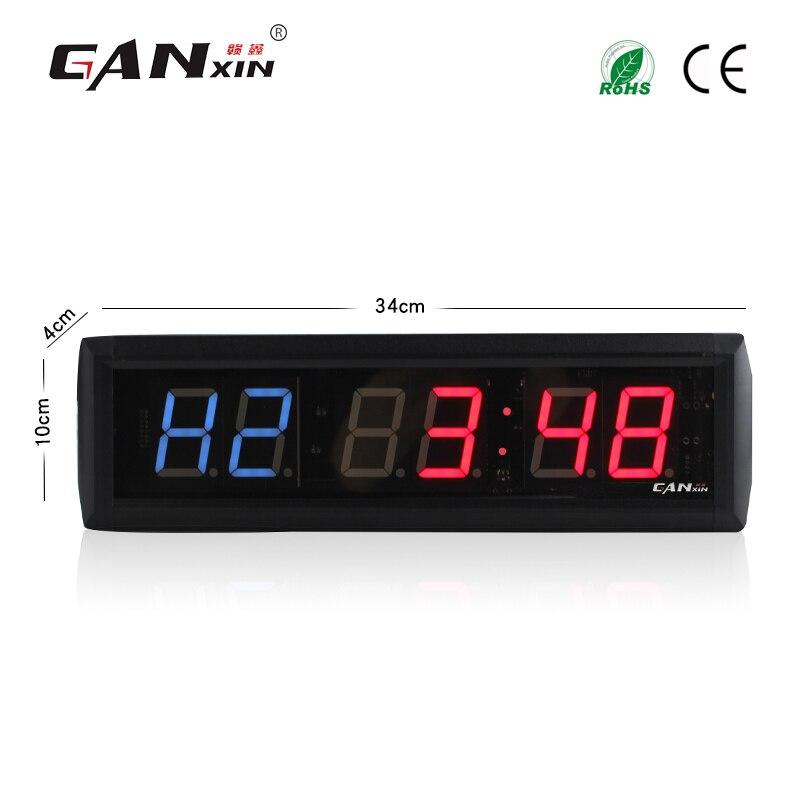 [Ganxin] 1,8 светодиодный тренажерный зал цифровые часы цикл режим боксерские Пользовательские игры Таймер обратного отсчета, секундомер в кол