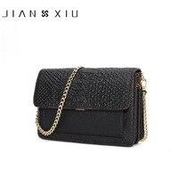 JIANXIU Brand Fashion Women Messenger Bags Chain Design Genuine Leather Shoulder Crossbody Bag Crocodile Pattern 2017