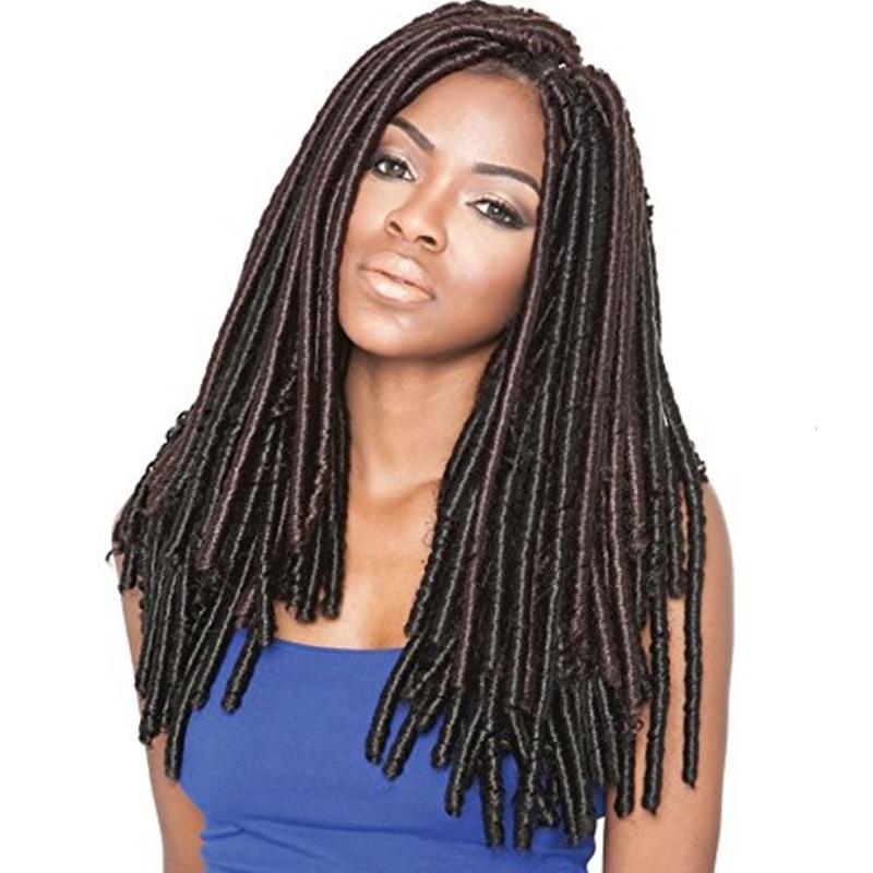 Feibin Afro Háčkování Braids Hair Extension Syntetické Dreadlock vlasy Doprava zdarma
