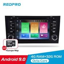 "Kit multimídia automotivo 7 ""ips, android 9.0, dvd, estéreo, para audi a6 s6 rs6 1997 + multimídia, wi fi navegação gps unidade de cabeça player"
