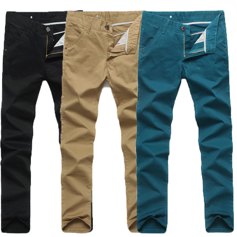 Male casual pants male men's clothing trousers men's slim straight ...