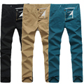 Ropa masculina pantalones casuales hombres pantalones rectos delgados de los hombres pantalones casuales