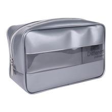 Waterproof Portable Pvc Cosmetic Bag Zipper Packaging Cube Organizer Bathroom Wash Bag, Women Fashion Makeup