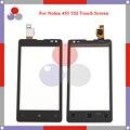 """Alta qualidade 4.0 """"para nokia microsoft lumia 435 lumia 532 sensor de toque digitador da tela frontal da lente de vidro do painel frete grátis"""