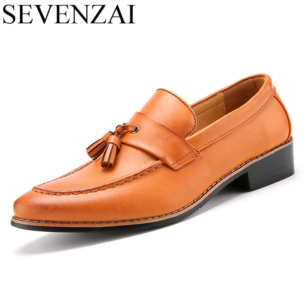 luxury brand mens pointed toe dress shoes famous tassel italian footwear male formal ballet flats fashion oxford shoes for men