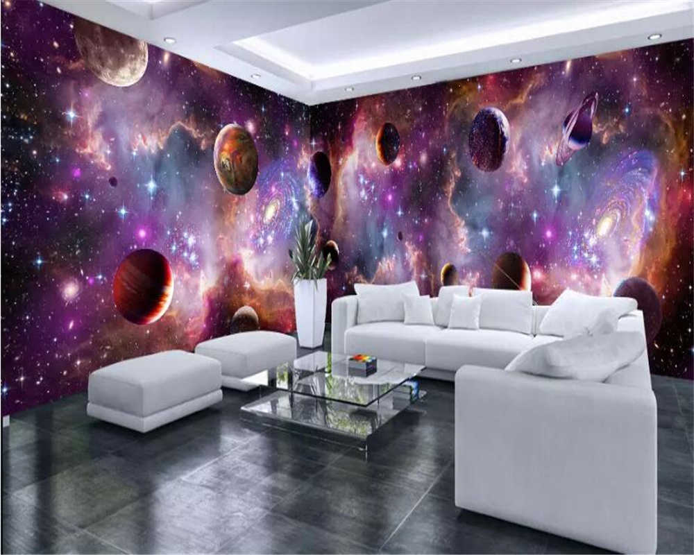 Beibehang Custom Large Wallpaper 3d Murals Vast Starry Sky Space Galaxy Whole House Background Wall Paper Custom Mural Wallpaper Wallpapers Aliexpress