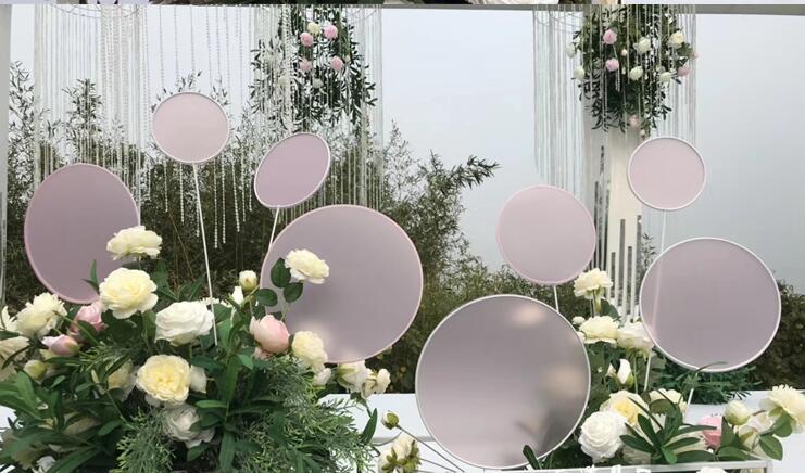 Nouveau tieyi ginkgo feuille route menant de mariage props affichage stade fond décoration de fenêtre piste route menant fleurs.