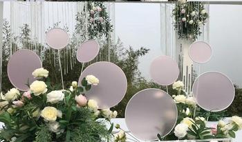 new tieyi ginkgo leaf road leading wedding props display stage background window decoration runway road leading flowers.