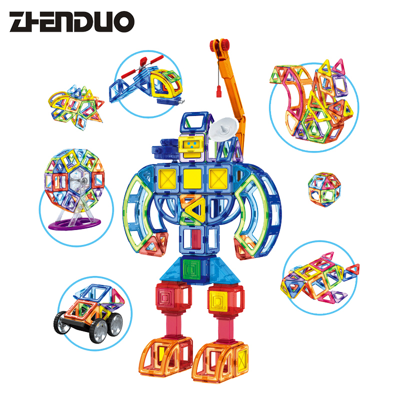 Zhenduo 3D magnetic tablets modular suite Variety Tuo modeling creative DIY puzzle children early childhood education toys children s early childhood educational toys the bear change clothes play toys creative wooden jigsaw puzzle girls toys
